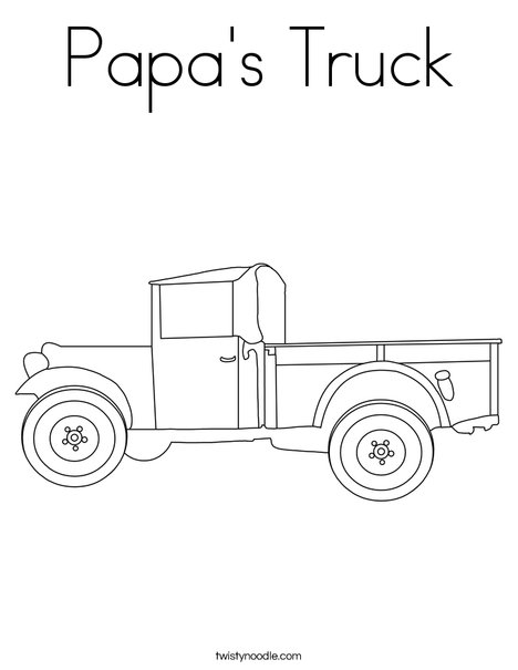 Pickup Truck Coloring Page