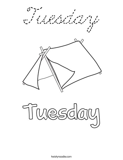 Tuesday Coloring Page