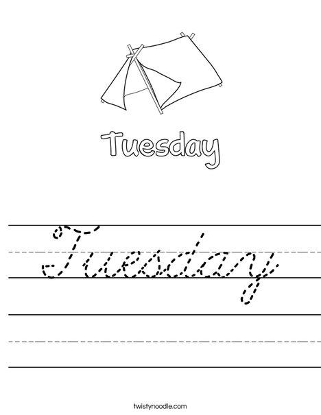 Tuesday Worksheet