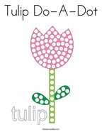 Tulip Do-A-Dot Coloring Page