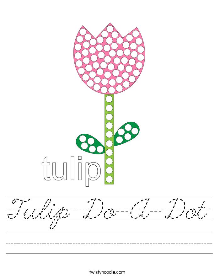 Tulip Do-A-Dot Worksheet