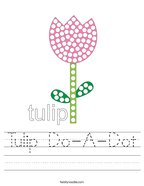 Tulip Do-A-Dot Handwriting Sheet