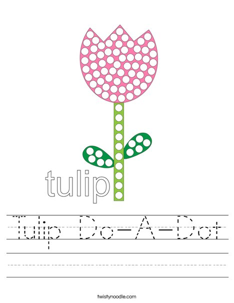 Tulip Do-A-Dot Worksheet