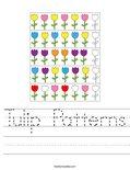 Tulip Patterns Worksheet