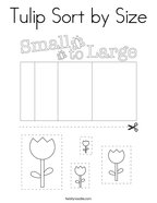 Tulip Sort by Size Coloring Page