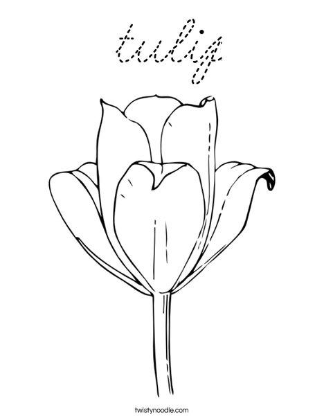 Tulip Coloring Page