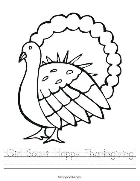 Gobble Gobble Turkey Worksheet