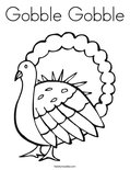Gobble GobbleColoring Page