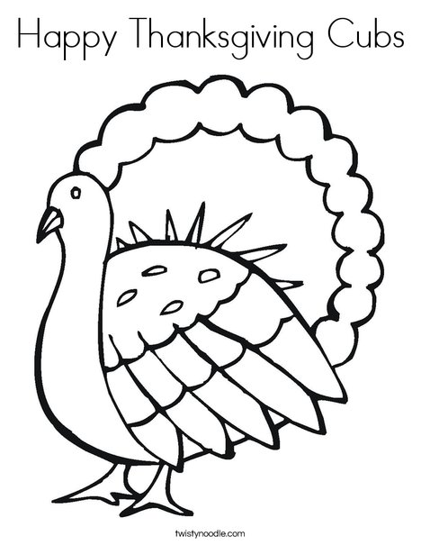 Gobble Gobble Turkey Coloring Page