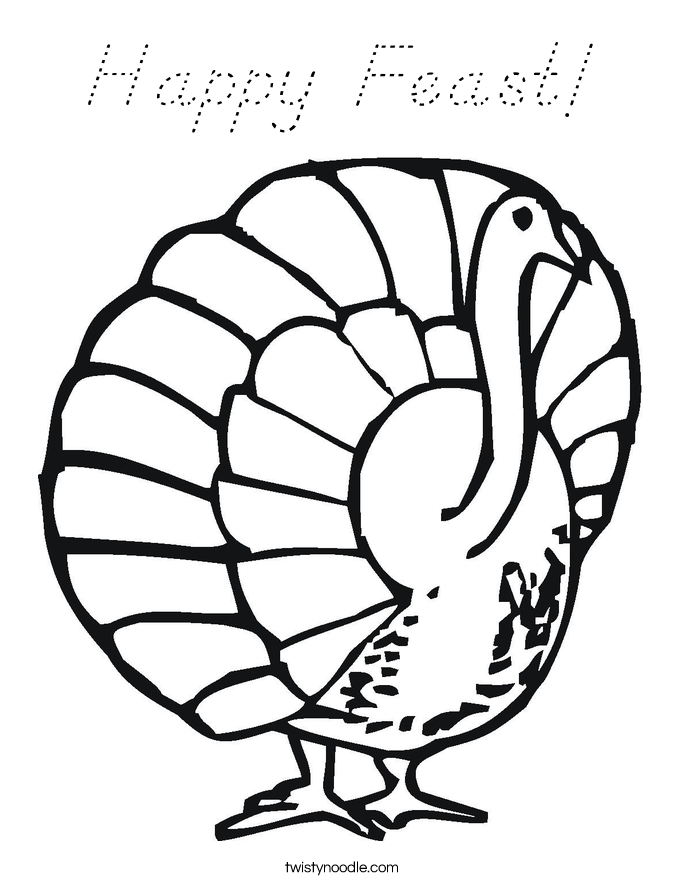 Happy Feast! Coloring Page