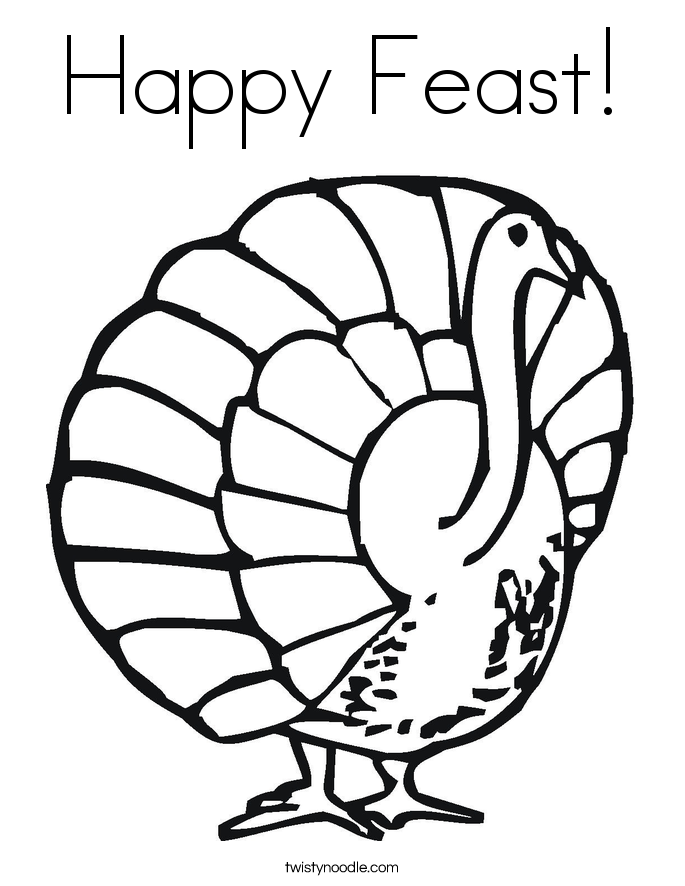 Thanksgiving Coloring Pages - Twisty Noodle
