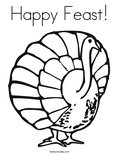 Happy Feast!Coloring Page
