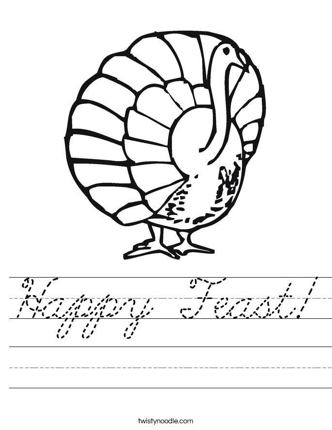 Happy Feast! Worksheet
