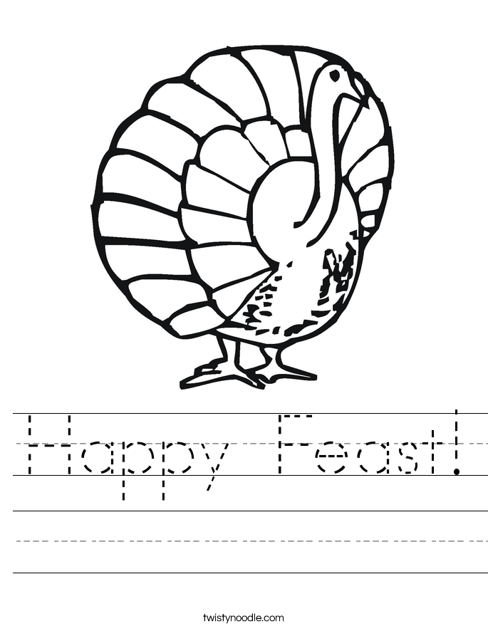 Happy Feast! Worksheet