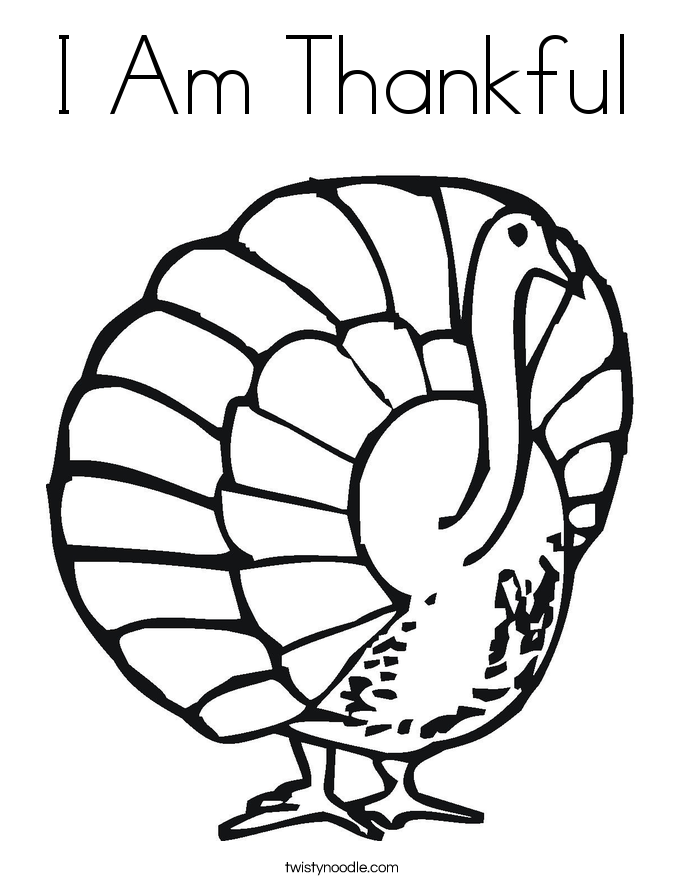 i am thankful coloring pages - photo #43