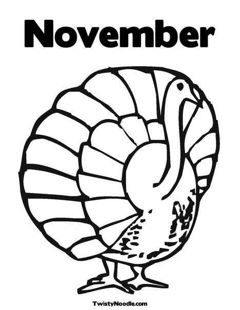 Free Coloring Pages Of Welcome November November Coloring Page