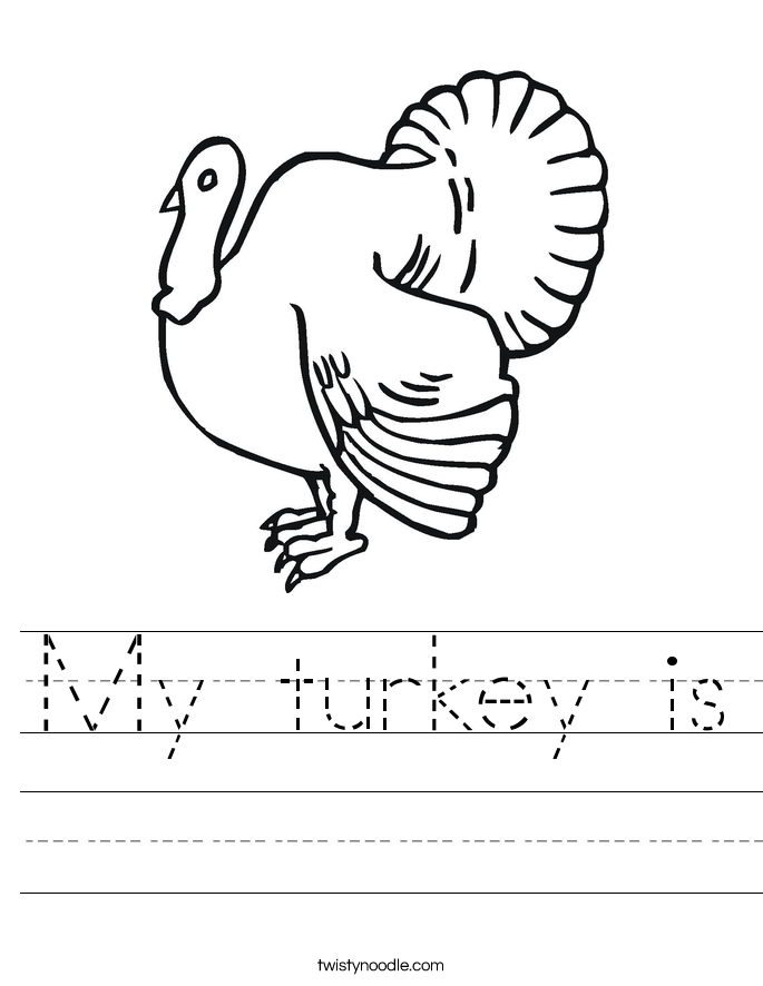 My turkey is Worksheet