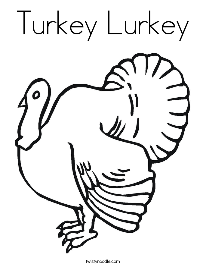 Turkey Lurkey Coloring Page