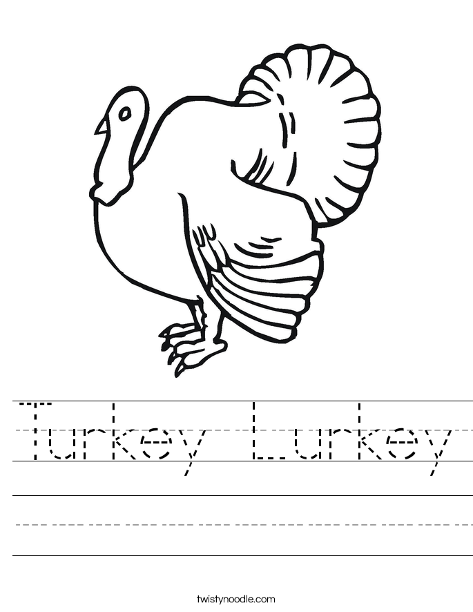 Turkey Lurkey Worksheet