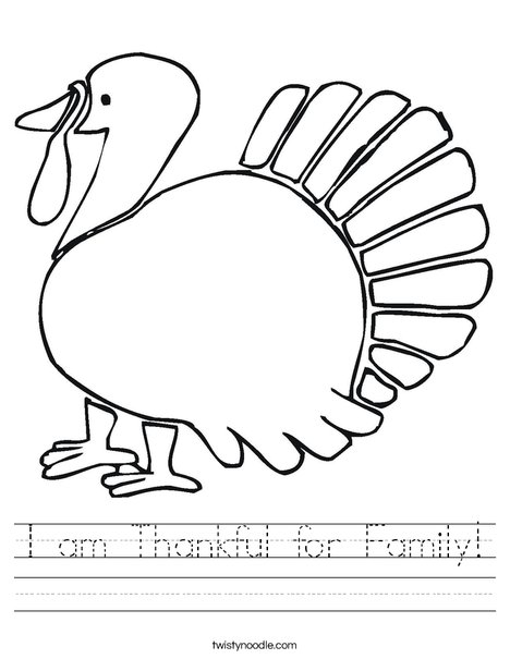Give Thanks Turkey Worksheet