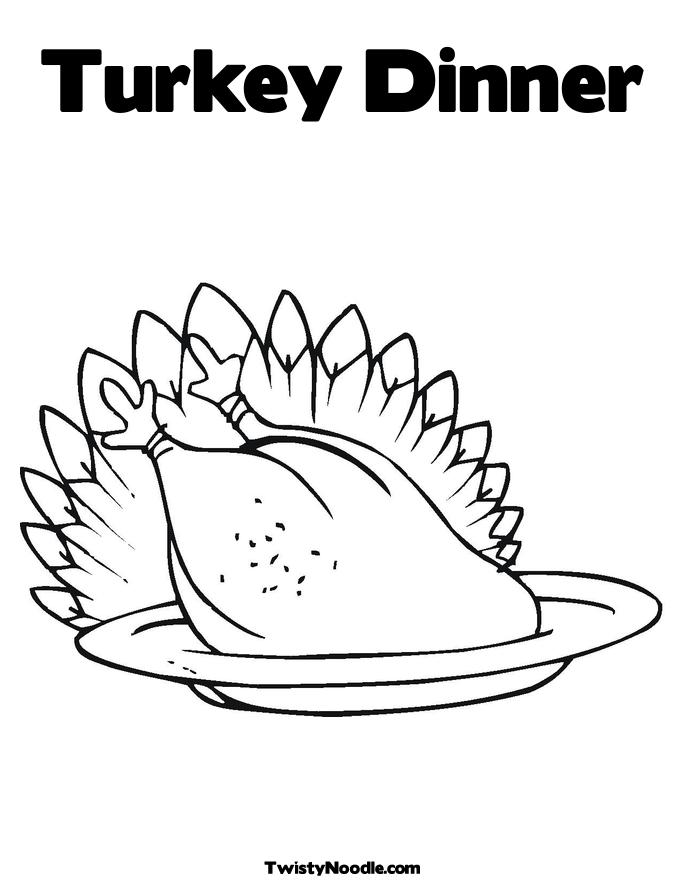 kaboose coloring pages thanksgiving meal - photo #33