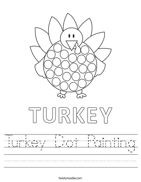 Turkey Dot Painting Worksheet