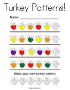 Turkey Patterns Coloring Page