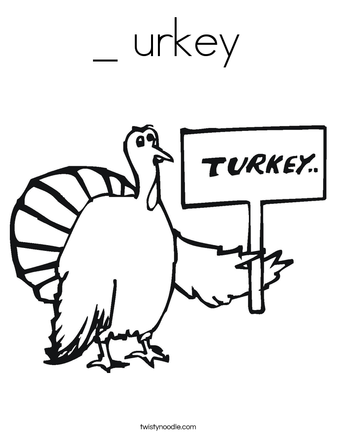 _ urkey Coloring Page