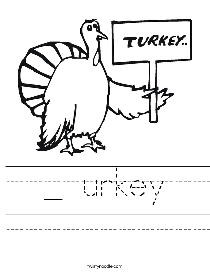 _ urkey Worksheet