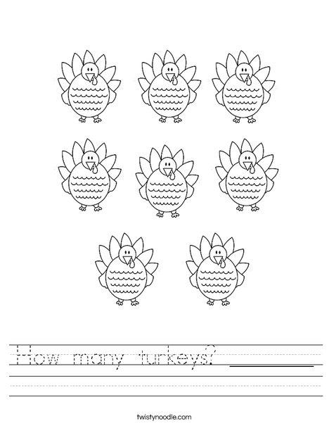 TurkeyCounting Worksheet