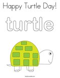 Happy Turtle Day! Coloring Page