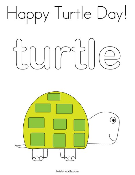 Happy Turtle Turtle Coloring Pages