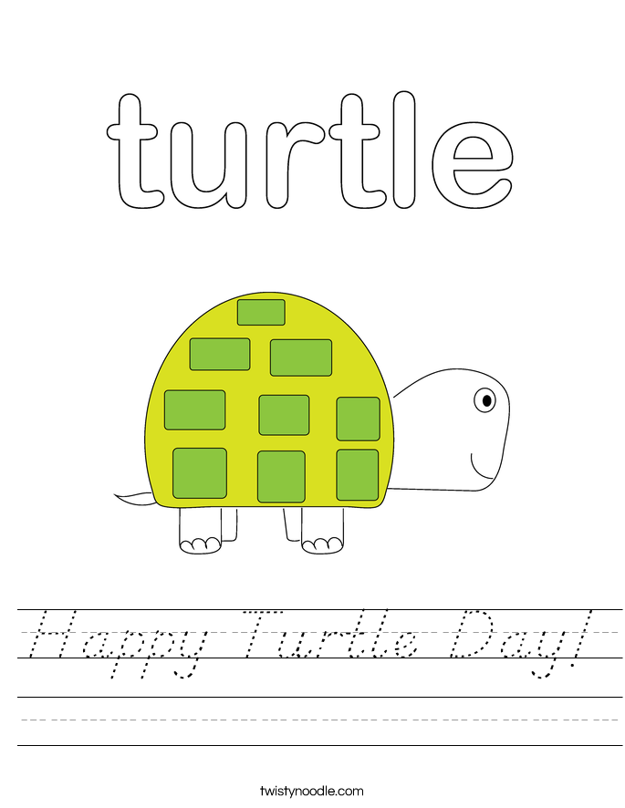 Happy Turtle Day! Worksheet