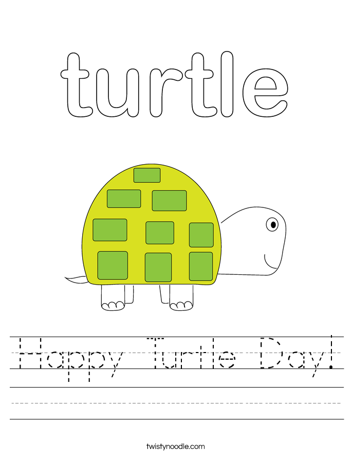 Happy Turtle Day! Worksheet