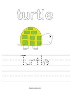 Turtle Handwriting Sheet