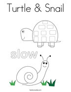 Turtle & Snail Coloring Page