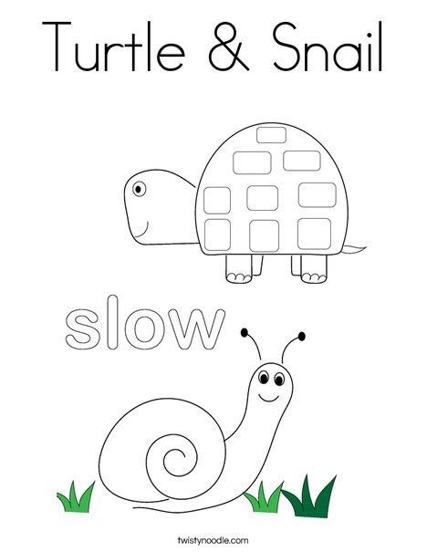 Turtle & Snail Coloring Page - Twisty Noodle