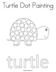 Turtle Dot Painting Coloring Page