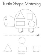 Turtle Shape Matching Coloring Page