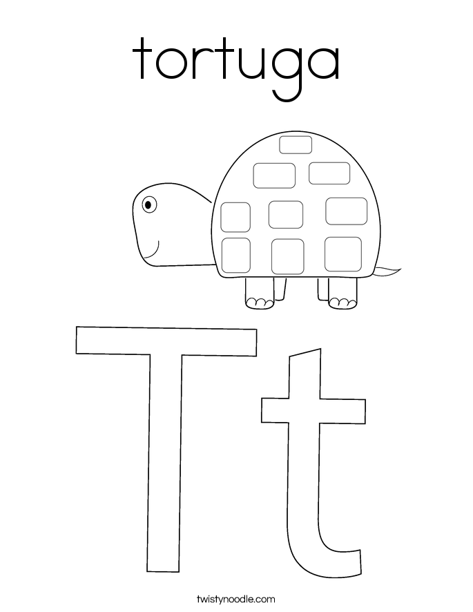 tortuga Coloring Page