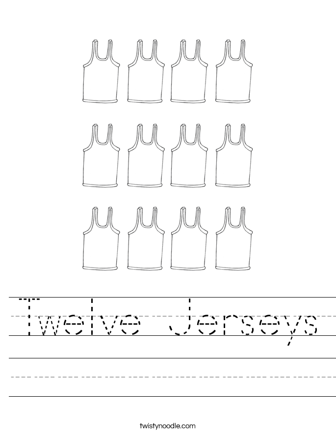 Twelve Jerseys Worksheet
