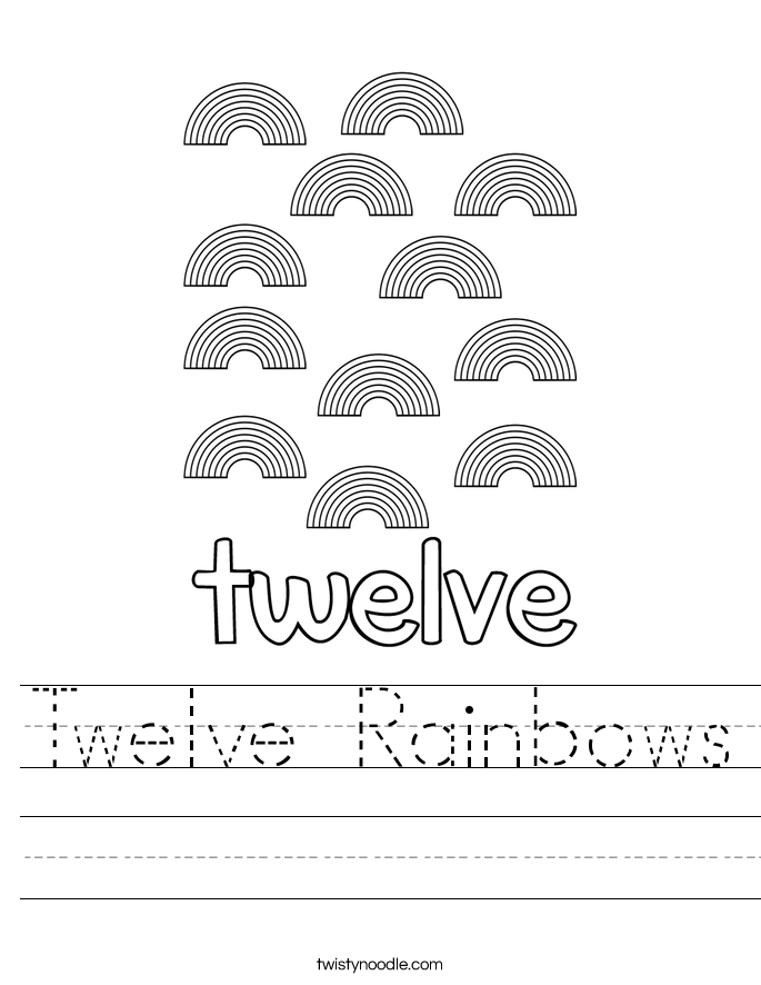 Twelve Rainbows Worksheet