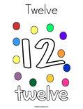 Twelve Coloring Page