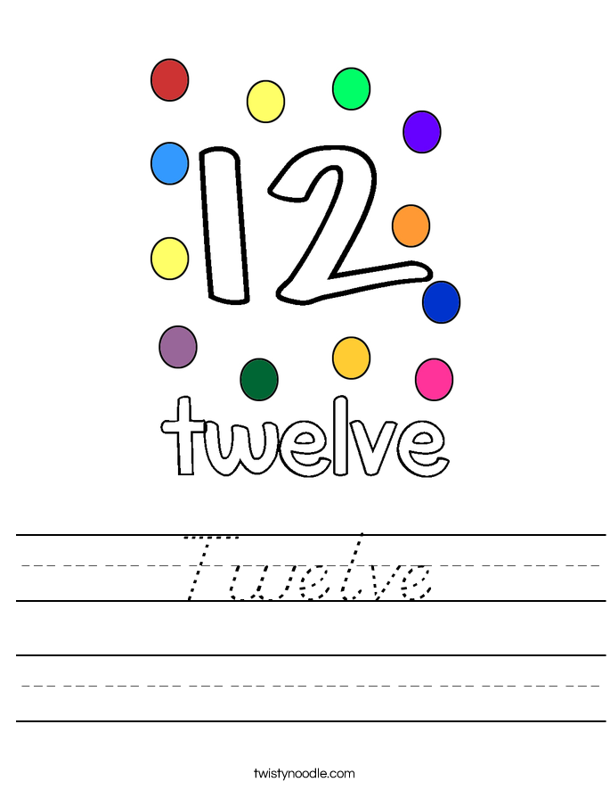 Twelve Worksheet