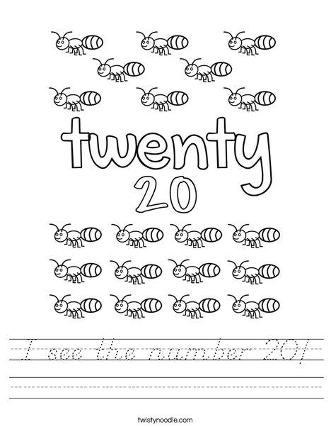 Twenty Ants Worksheet