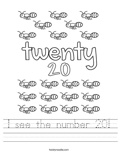 Twenty Ants Worksheet