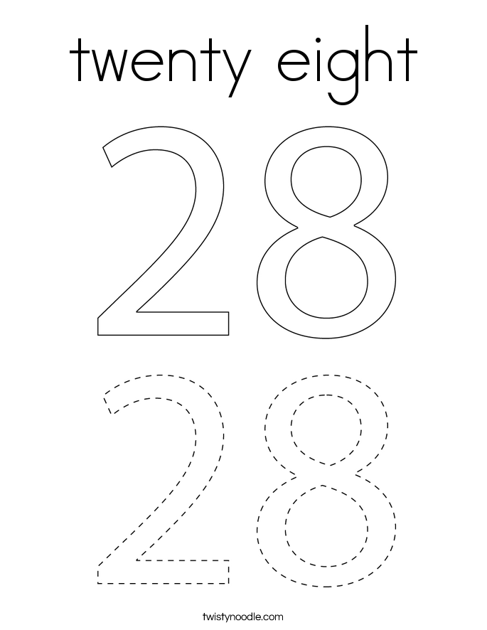 twenty eight Coloring Page