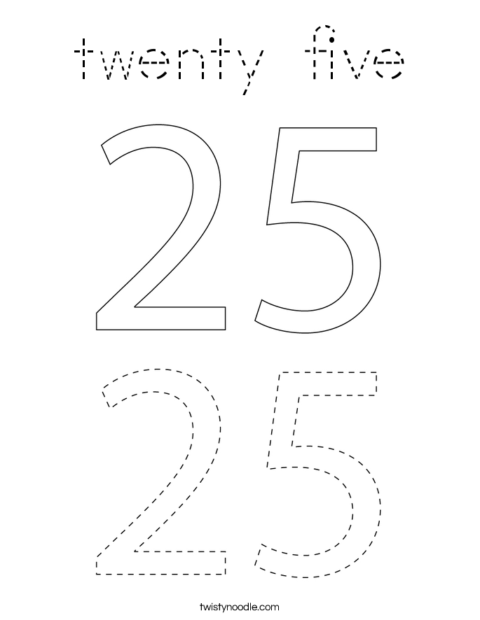twenty five Coloring Page