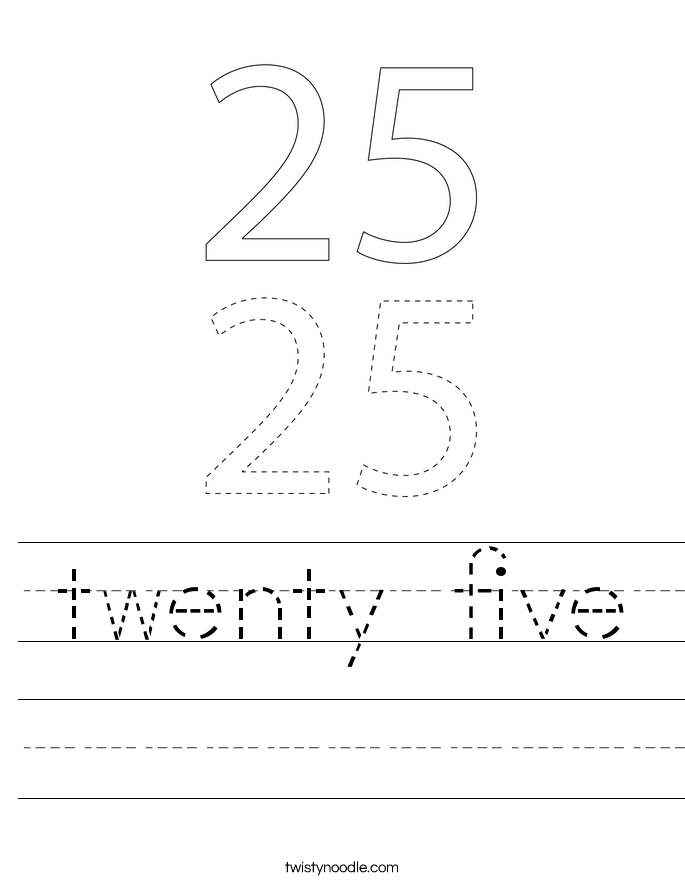 twenty five Worksheet