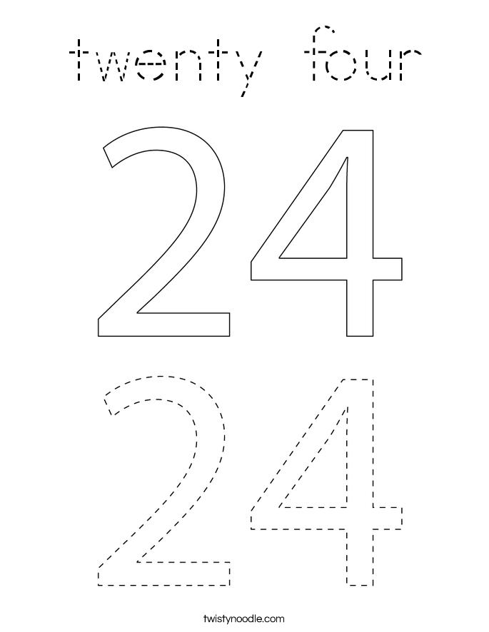 twenty four Coloring Page